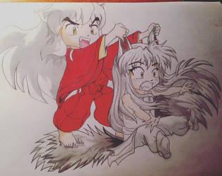 Inuyasha and Kurama by AngelGabryel
