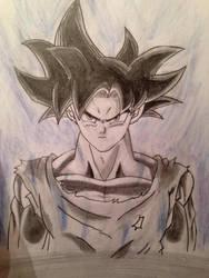 Ultra Instinct Goku drawing by AngelGabryel