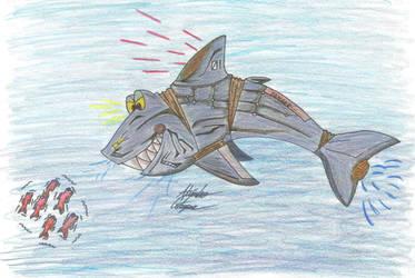 Mecha Shark Colored by AnimeChunks