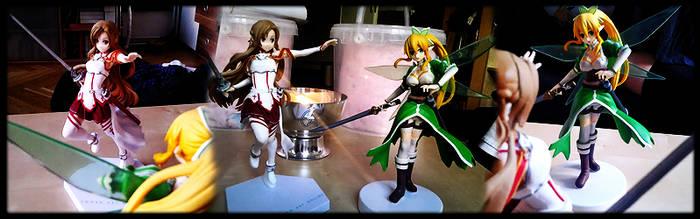 Asuna et Leafa by RavenTheSilence