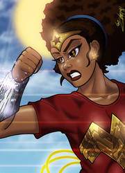 African American Wonderwoman by anubis2kx