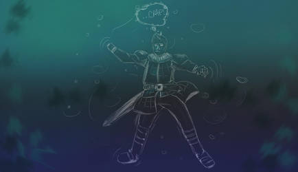Inktober Day 04 - Underwater by MakiMoonstone2706