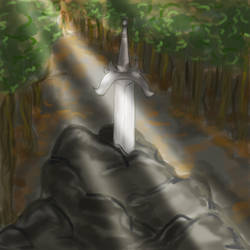 Inktober Day 06 - Sword by MakiMoonstone2706