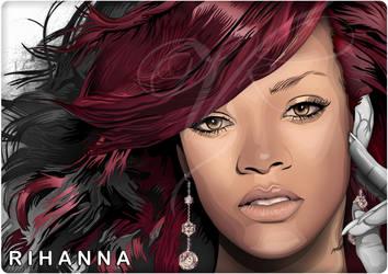 Rihanna Vector - vik kainth - vkgraphics by VKgraphics