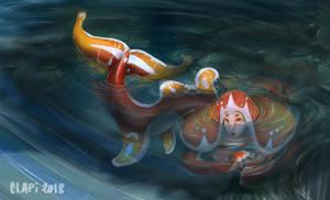 Shy Little Mermaid by Clapiart
