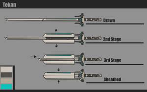 Warframe [Tekan - Long Katana Concept] by BlazingCobalt