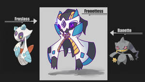 [Pokemon Fusion] Froslass and Banette by BlazingCobalt