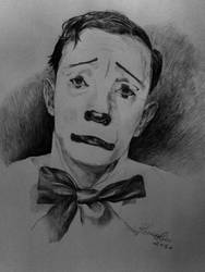 Buster Keaton -White clown by GioTanner