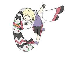 Raeka and her scarf by RascalWabbit