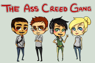 The Ass Creed Gang by rosey-so-silly