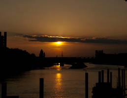 Bremen sunset by trencapins