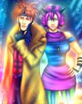 Gambit and Tati by Scorpion-Ermac-MK