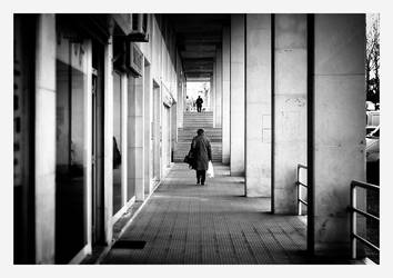 two lonely walkers by fuxs