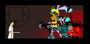 Samurai Jack Stand Off by rebel-penguin