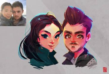Couple Portrait by vinciruz