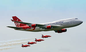 Red Arrows and Virgin 747 2 by rosswillett