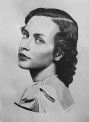 grf Edelsheim-Gyulai Ilona portrait drawing by Zontal