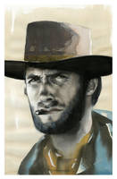 Clint Eastwood by SALTWatercolors