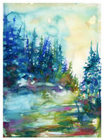 Forest Glow by SALTWatercolors