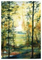 Golden Shores by SALTWatercolors