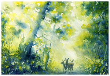 Forest Passage by SALTWatercolors