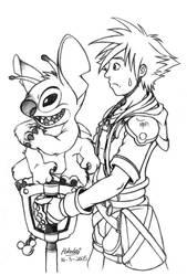 Stitch and Sora by Pokelai