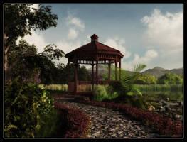 Japanese garden by 00AngelicDevil00