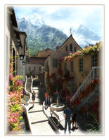Mountain Village Street by 00AngelicDevil00