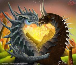 Dragons in Love by Himeviti