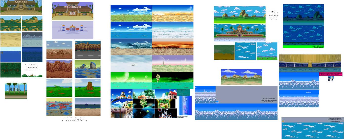Dbz Sprite Backgrounds By Sonicmechaomega999 On Deviantart