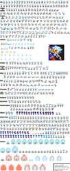 Hyper Sonic (jakebrickmaster) NEW Sprites by sonicmechaomega999
