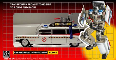 Transformers-Ecto1 G1 Style Box Packaging (WIP) by btnkdrms