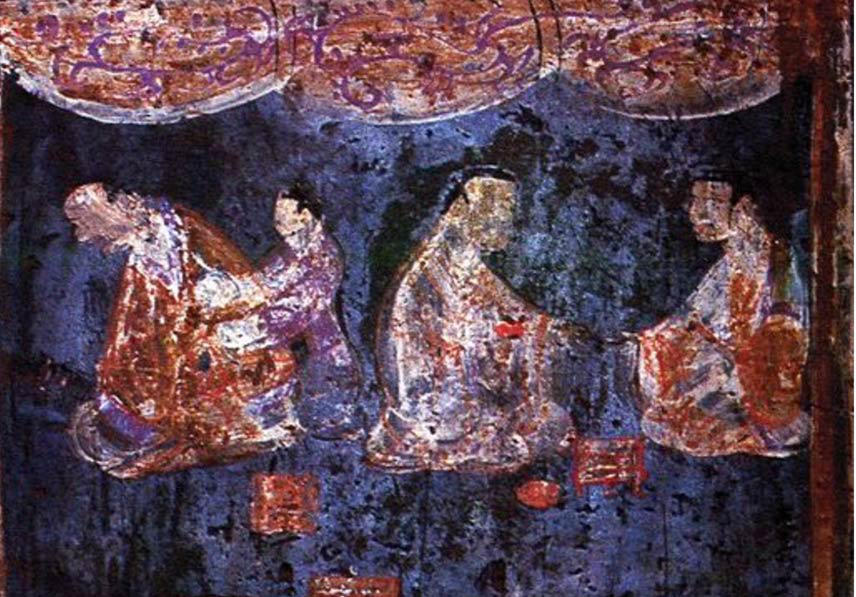 mural-from-an-Eastern-Han-tomb-artificial-pigment by Shesvii