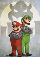 Mario Brothers by RogierB