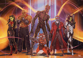 Guardians of the Galaxy by RogierB