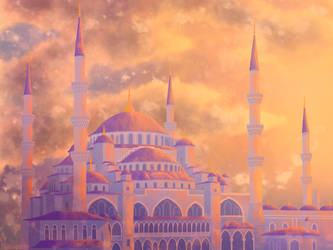 Blue Mosque by Ravesne