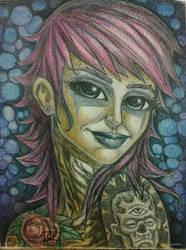 tatoo girl by Chuckfarmer