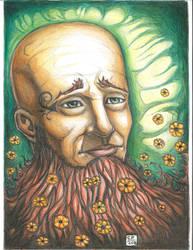 the bearded mann with flowers. .. by Chuckfarmer