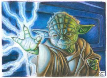 jedi master yoda by Chuckfarmer