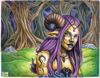 Fawn girl by Chuckfarmer