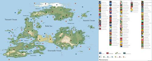 Political Map of Karaban by hydraulicoilman