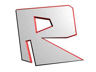 Roblox 2009 Icon but in 3D by eliscristiane2012