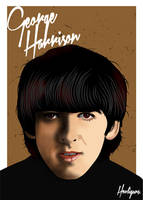 George Harrison by hooliguns