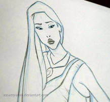 Pocahontas doodle by xXSamyahXx