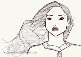 Pocahontas sketch by xXSamyahXx