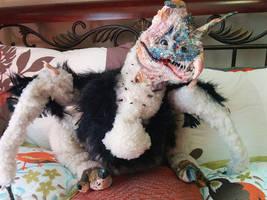 OOAK  Baby Flamboyant Wyvern Doll by LindseyWArt