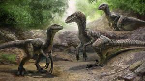 Commission: Raptor Siblings by LindseyWArt