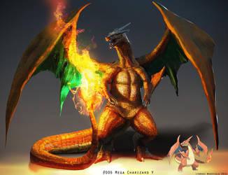 Pokemon: Mega Charizard Y by LindseyWArt