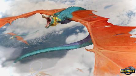 Digimon: Airdramon by LindseyWArt