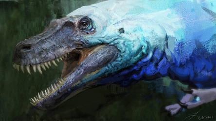 Albertosaurus by LindseyWArt